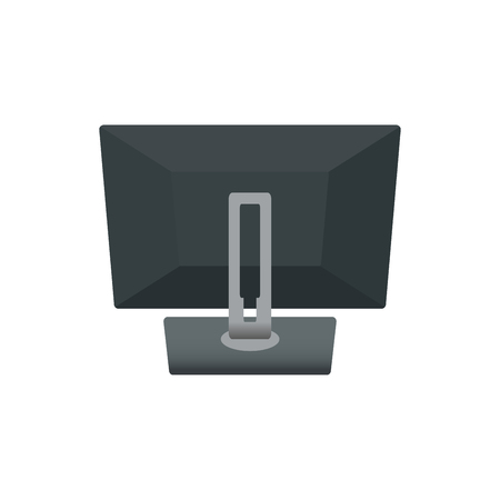 Computer Monitor Notebook Laptop, Television Backside. Icon Vector Illustration. isolated on White Background.