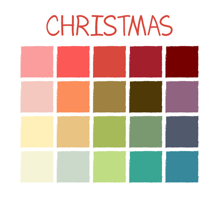 Christmas Colorful Tone Colors. Palette Scheme Pastel Vintage Colors. without Code. Vector Illustration