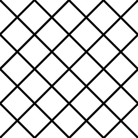 chequer: Black Grid White Chess Board Diamond Background Vector Illustration Illustration
