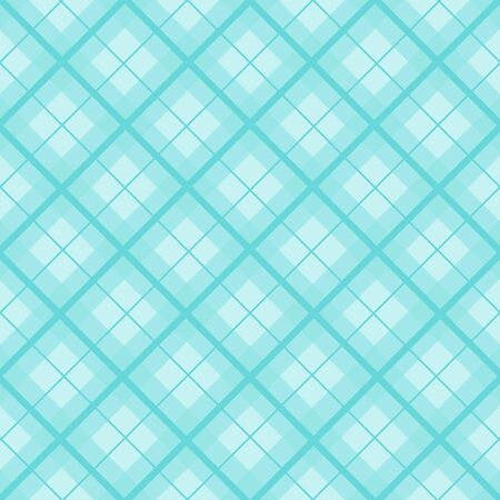 Mint Blue Green Christmas Tartan Vintage Background Vector Illustration