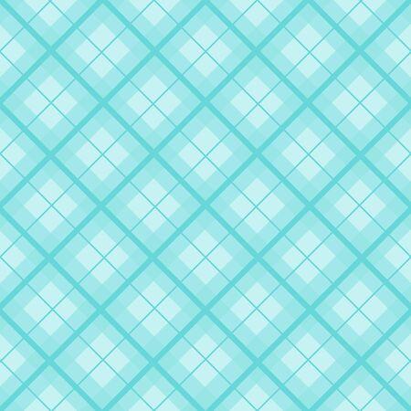 Mint Blue Green Christmas Tartan Vintage Background Vector Illustration