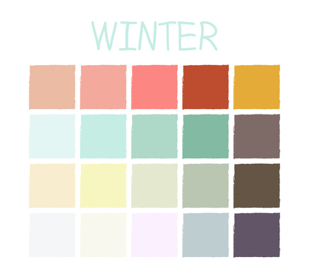 tone on tone: Winter Color Tone without Code. Vector Illustration.