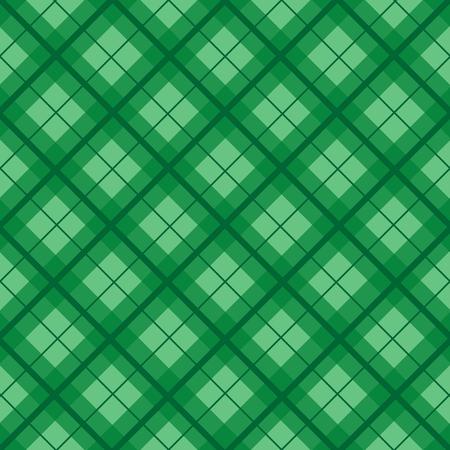 chequer: Green Christmas Tartan Vintage Background Vector Illustration