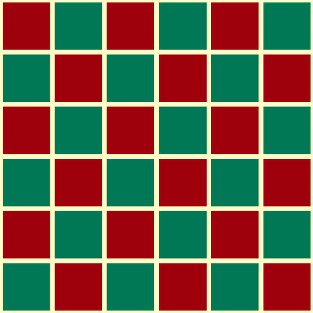 Green Red Grid Christmas Chess Board Background Vector Illustration
