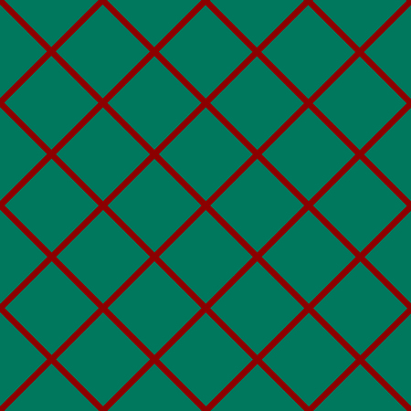 chequer: Red Grid Green Christmas Chess Board Diamond Background Vector Illustration