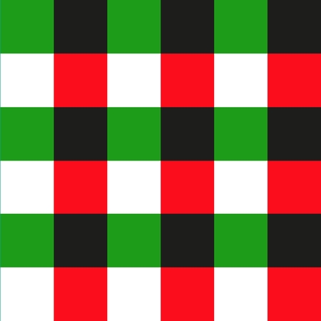 green and red: Green Red Black Chessboard Background. Christmas Seamless Pattern. Vector Illustration.