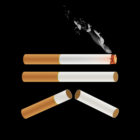 baccy: Cigarette Burning with Smoke