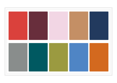 tawny: Fall Colors for 2017. Colors of the Year, Palette Fashion Colors. without Name. Vector Illustration