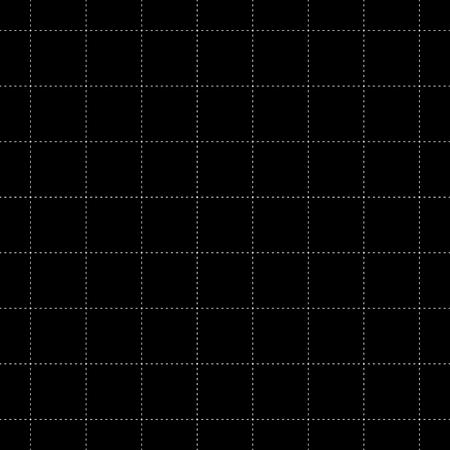 White Dash Square Seamless on Black Background. Vector Illustration.