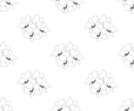 Amaryllis inconsútil en el fondo blanco. Día de Navidad. Ilustración vectorial Foto de archivo - 90822633