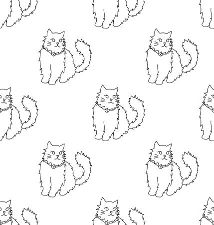 Gatto persiano bianco su fondo bianco. Illustrazione vettoriale Archivio Fotografico - 94465822