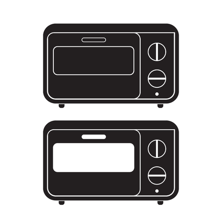 Oven icon Vector Illustration. Flat Sign isolated on White Background. Çizim
