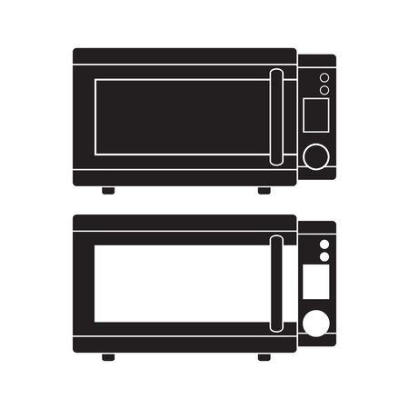 Microwave Oven icon Vector Illustration. Flat Sign isolated on White Background.