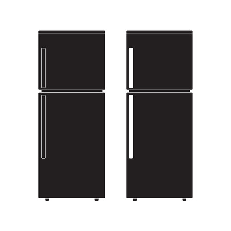 Refrigerator icon Vector Illustration. Flat Sign isolated on White Background. 向量圖像