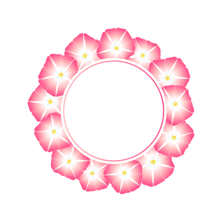 Pink Morning Glory Flower Banner Wreath.