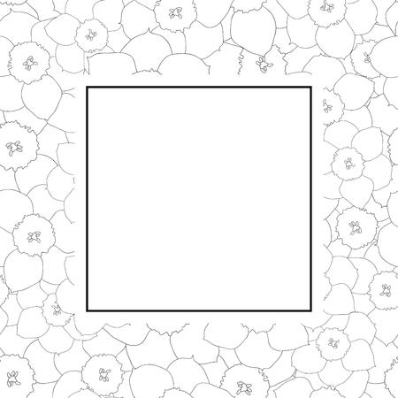 Daffodil - Narcissus Outline Banner Card. Vector Illustration. 向量圖像