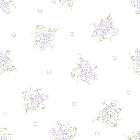 Colorful Line Grape on White Background. Vector Illustration.