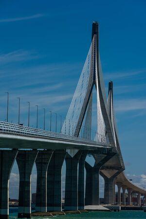 Bridge over the bay in Cadiz 写真素材
