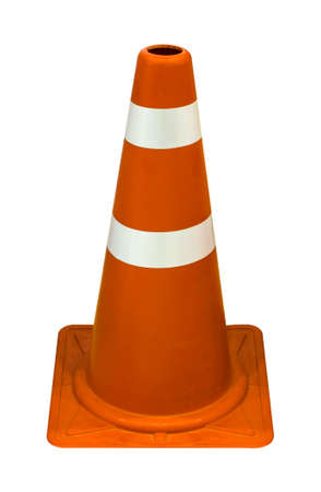 Traffic cones isolated on white background. Stock Photo