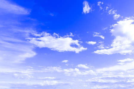sky Background blue sky with white clouds for design pattern and background.