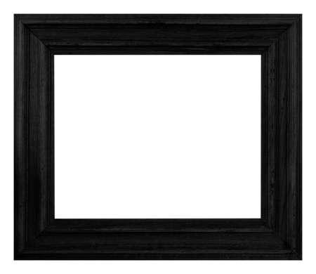 black frame isolated on white background. Imagens