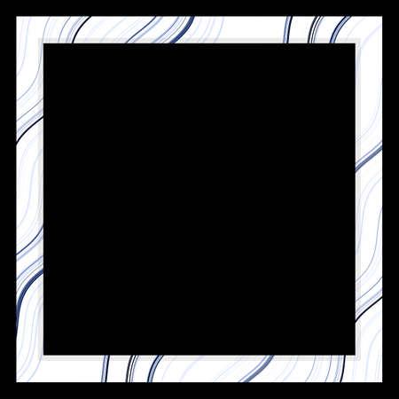 frame vintage isolated on black background. Imagens