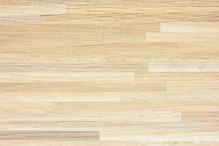 Pavimento del campo da basket in legno di acero visto dall'alto.
