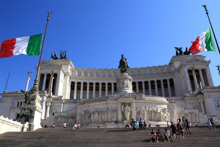 altar of fatherland: Monumento Nazionale a Vittorio Emanuele II in Rome Italy