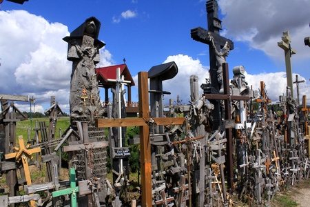 lithuania: Hill of Crosses in Lithuania Editorial