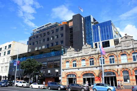 View of the buildings in the city of Auckland, New Zealand Editorial