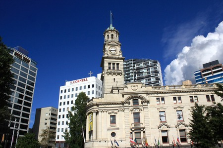 View of the city of Auckland, New Zealand Editorial