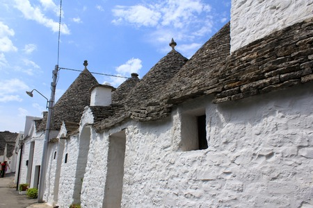 Trulli houses with conical roofs in Alberobello, Italy, Puglia Stock Photo