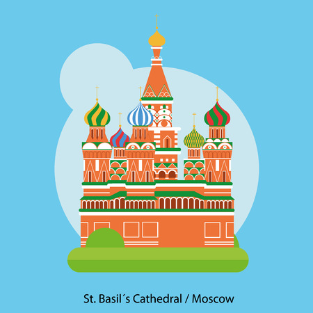 st: St Basils Cathedral Vector - Moscow, Russia