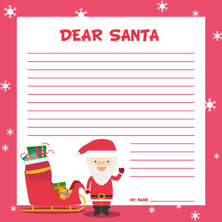 Santa claus letter template vector illustration for christmas santa claus letter template vector illustration for christmas time with child character vector spiritdancerdesigns Choice Image