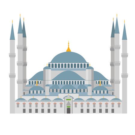 Blue Mosqu vector illustration. Istanbul Turkey