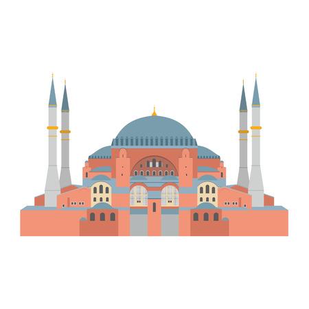 Vector illustration Hagia Sophia, Istanbul, Turkey.