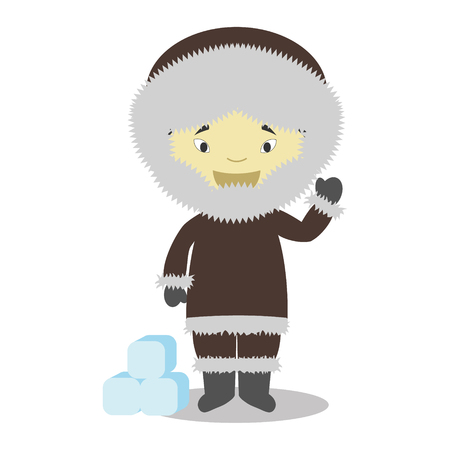 vestment: Character from Greenland dressed in the traditional way Vector Illustration