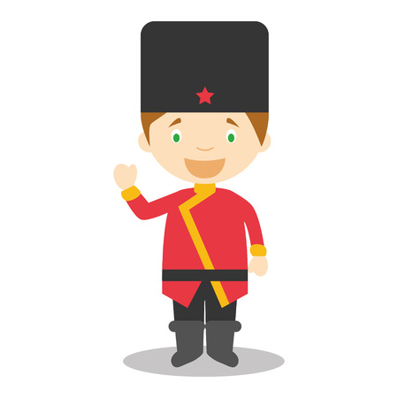 typical: Character from Russia dressed in the traditional way Vector Illustration Illustration