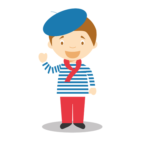 Character from France Vector Illustration