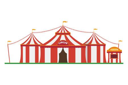 Cute cartoon vector illustration of a circus