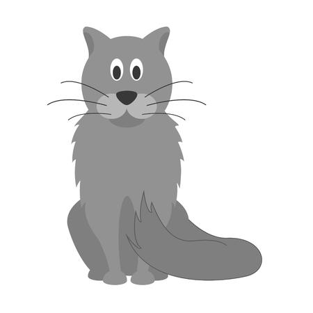 mjau: Cute cartoon cat vector illustration Illustration