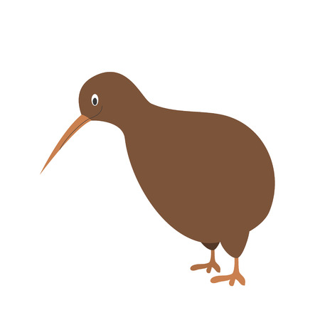 Cute cartoon vector illustration kiwi