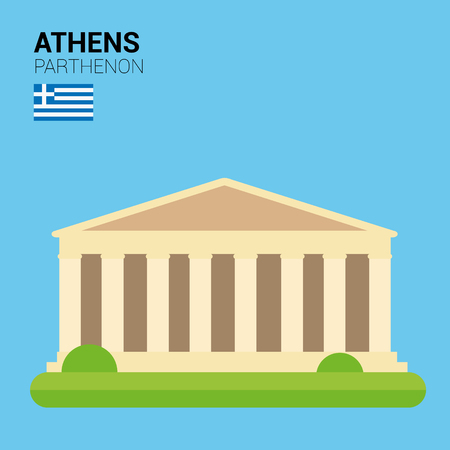 points of interest: Monuments and landmarks Vector Collection: Parthenon.