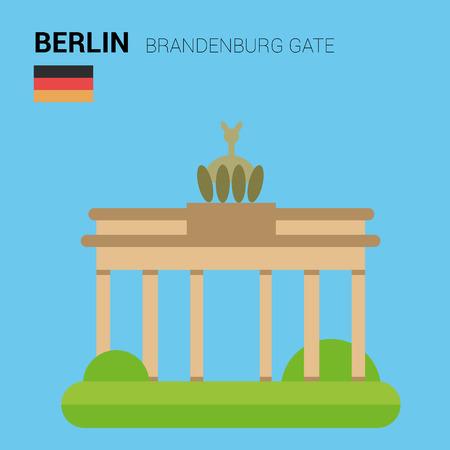 brandenburg gate: Monuments and landmarks Vector Collection: Brandenburg Gate. Illustration