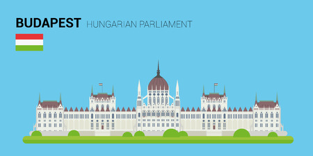 points of interest: Monuments and landmarks Vector Collection: Hungarian Parliament.