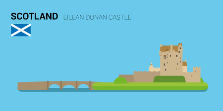 Monuments and landmarks Vector Collection: Eilean Donan Castle.