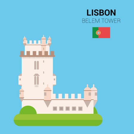 points of interest: Monuments and landmarks Vector Collection: Belem Tower.