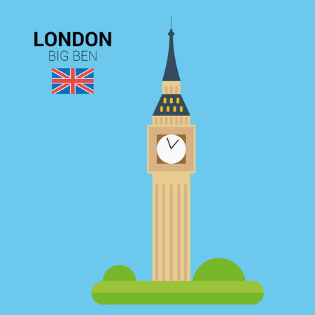 Monuments and landmarks Vector Collection: Big Ben.