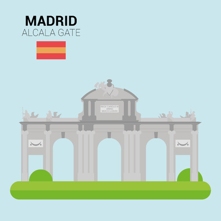 points of interest: Monuments and landmarks Vector Collection: Alcala Gate.