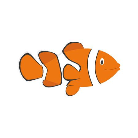 anemonefish: Cute cartoon clownfish vector illustration